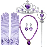FancyDressWale Princess Elsa Cinderella Rapunzel Dress up Accessories Set for Girls (Purple)