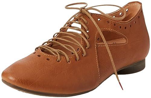 Think Guad_282284, Zapatos de Cordones Brogue Para Mujer, Marrón (Rum/Kombi 54), 42.5 EU