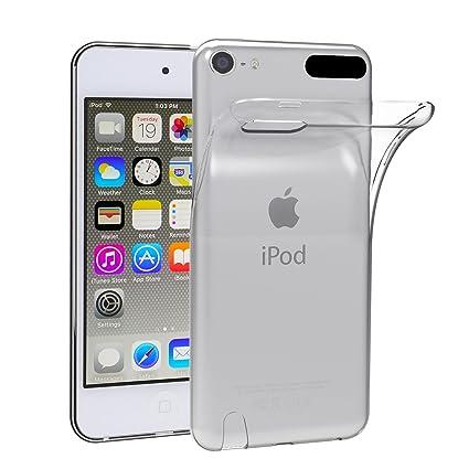 iVoler Funda Carcasa Gel Transparente para Apple iPod Touch 7/6 / 5 (7th, 6th y 5th Generación), Ultra Fina 0,33mm, Silicona TPU de Alta Resistencia y ...