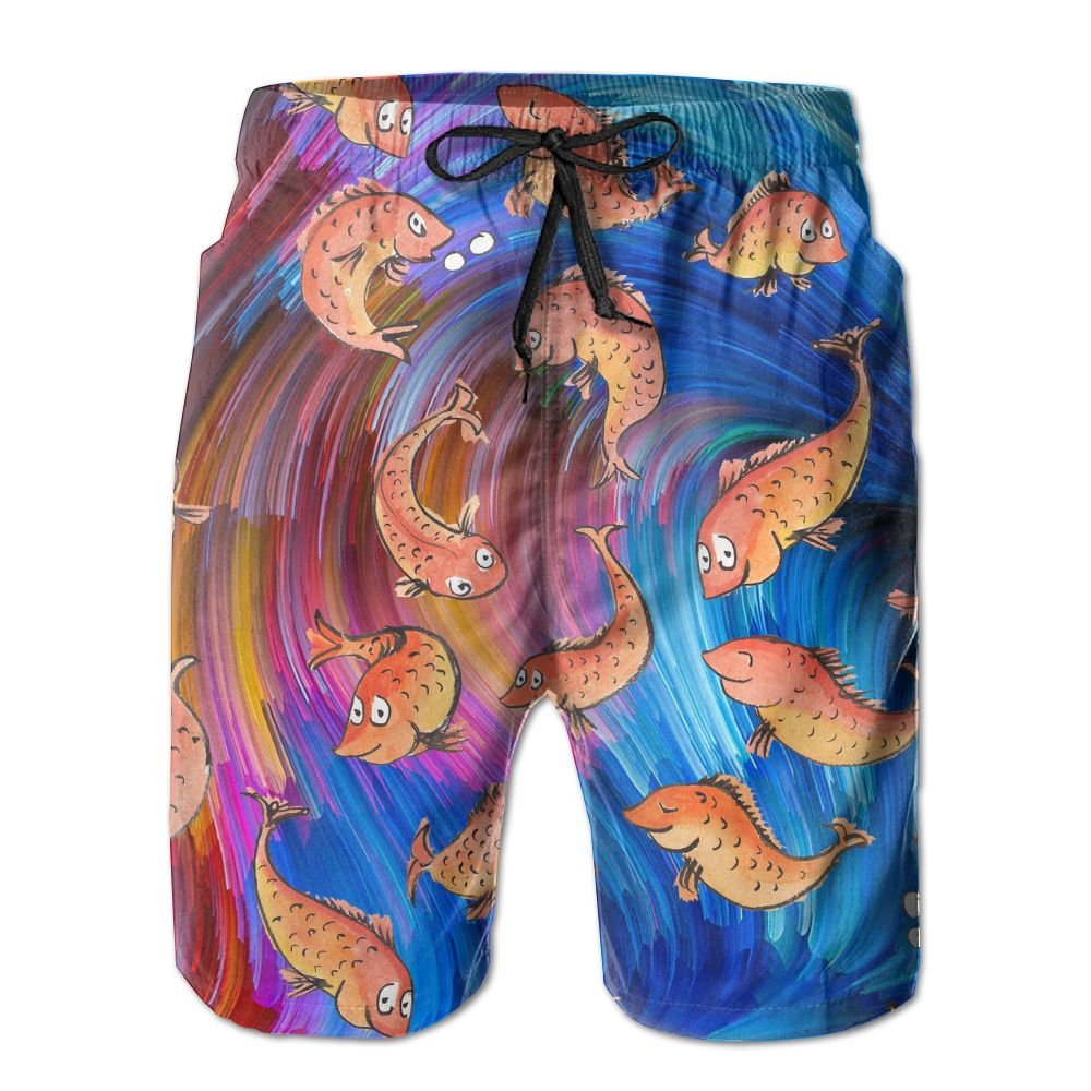 Many Red Carps Together Swim Trunks Quick Dry Beach Board Shorts Men Pants Household Shorts