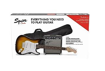 Fender Stratocaster Pack SSS Brown Sunburst + Frontman 10G + Funda + ...