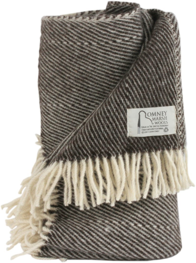 100 % British Romney Sheep Blanket/Throw – ブラックThorn カラー: ブラウン B013SV7J5G  Snuggle (150cm x 100cm)