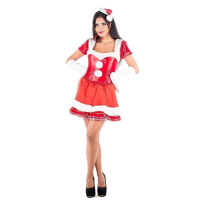 Picaresque - Disfraz mamá Noel Sexy Rojo: PICARESQUE: Amazon ...