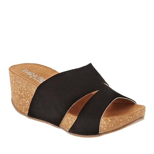 7e3ea4bda5bb Napa Flex Toni Women US 4 Black Wedge Sandal