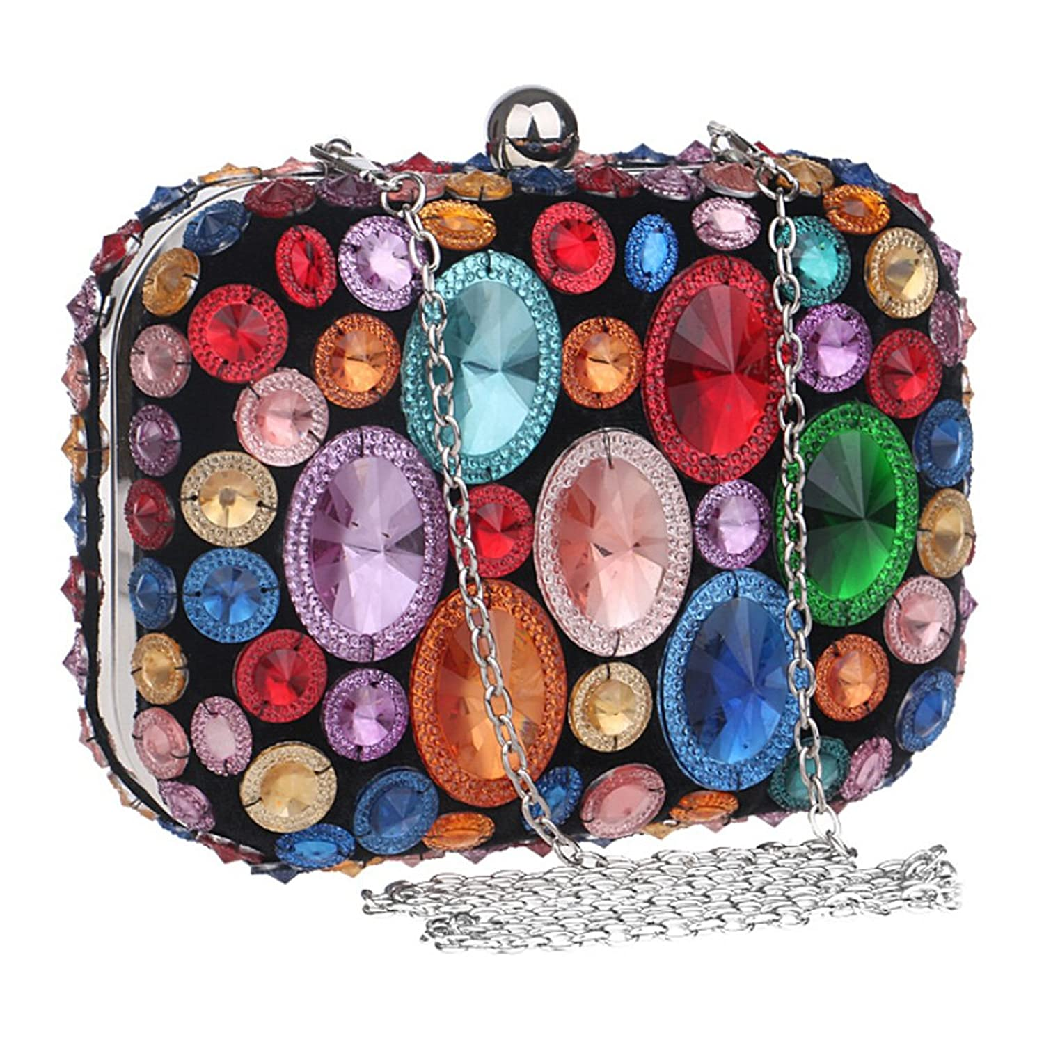 Abless Womens Glamour Elegant Evening Clutch Fashion Purse Chain Handbag -SK1113