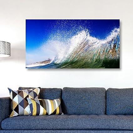 Quadri L&C ITALIA - Onda ocean - quadro moderno con mare 90 x 45 cm ...