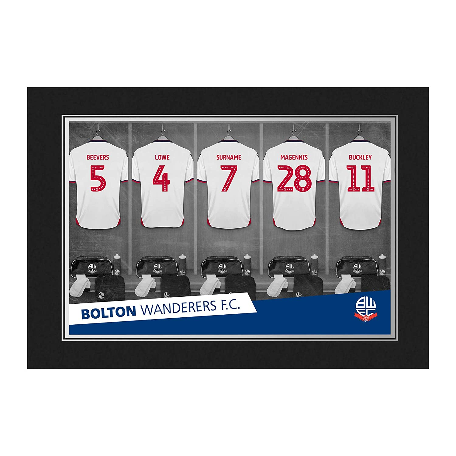 Official PERSONALISED Bolton Wanderers FC 9 x 6 Dressing Room Photo Folder - FREE PERSONALISATION Content Gateway
