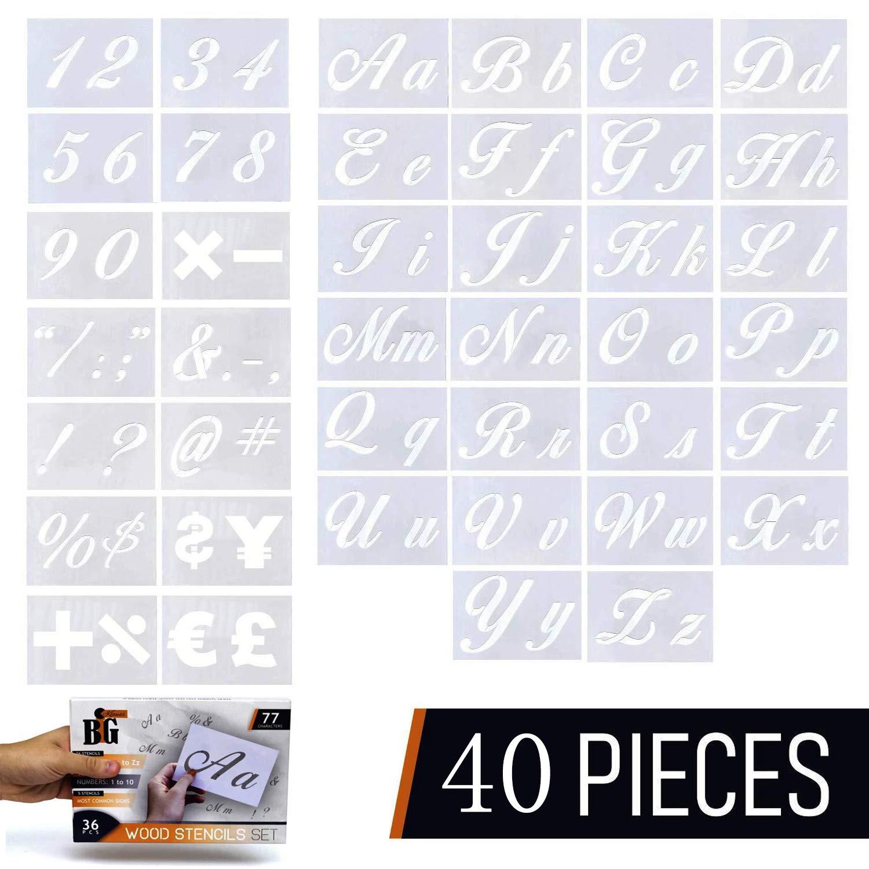 Signierschablonen 0-9 Größe: 30 mm Zahlen