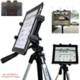 ChargerCity Vibration Free 360° Adjust Tripod Mount 1/4-20 Adapter, HDX-Lock Holder for 7 to 12-Inch Tablets