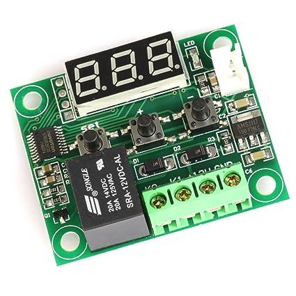 Totot xh-w1209 termostato interruptor de control de temperatura -50 - 110 grado Digital pantalla LED DC 12 V Mini Temp Control interruptor Junta: Amazon.es: ...
