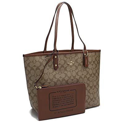 0ac04d345e Amazon.com  COACH REVERSIBLE CITY TOTE IN SIGNATURE F36658 IME74 (IM   KHAKI    SADDLE 2)  Shoes