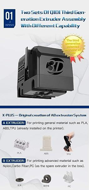 QIDI TECH Impresora 3D, tamaño grande, impresión 3D de grado ...