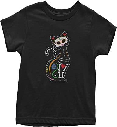 Expression Tees Cat Day of The Dead Youth T-Shirt