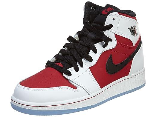 reputable site 20764 c7472 NIKE Kid s Air Jordan 1 Retro High OG BG 575441 123 quot Carmine Size 7