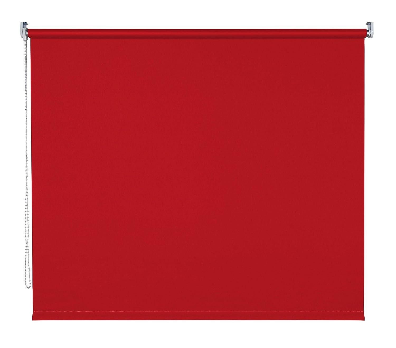 Verdunklungsrollo Fenster Tür Rollo Farbwahl Kettenzugrollo Seitenzugrollo Breite 60 - 200 cm Höhe 180 cm u. 240 cm Stoff lichtundurchlässig Metall Klemmhalter ohne Bohren (130 x 180 cm   Rot)