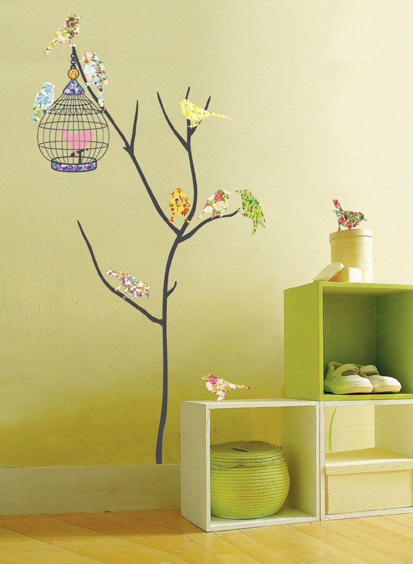 Amazon.com: Birds in Tree Repositional Wall Decal: Baby