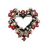 【ノーブランド品】レディース クリスマス 結婚式用 ハート形 コサージュ ピンブローチ