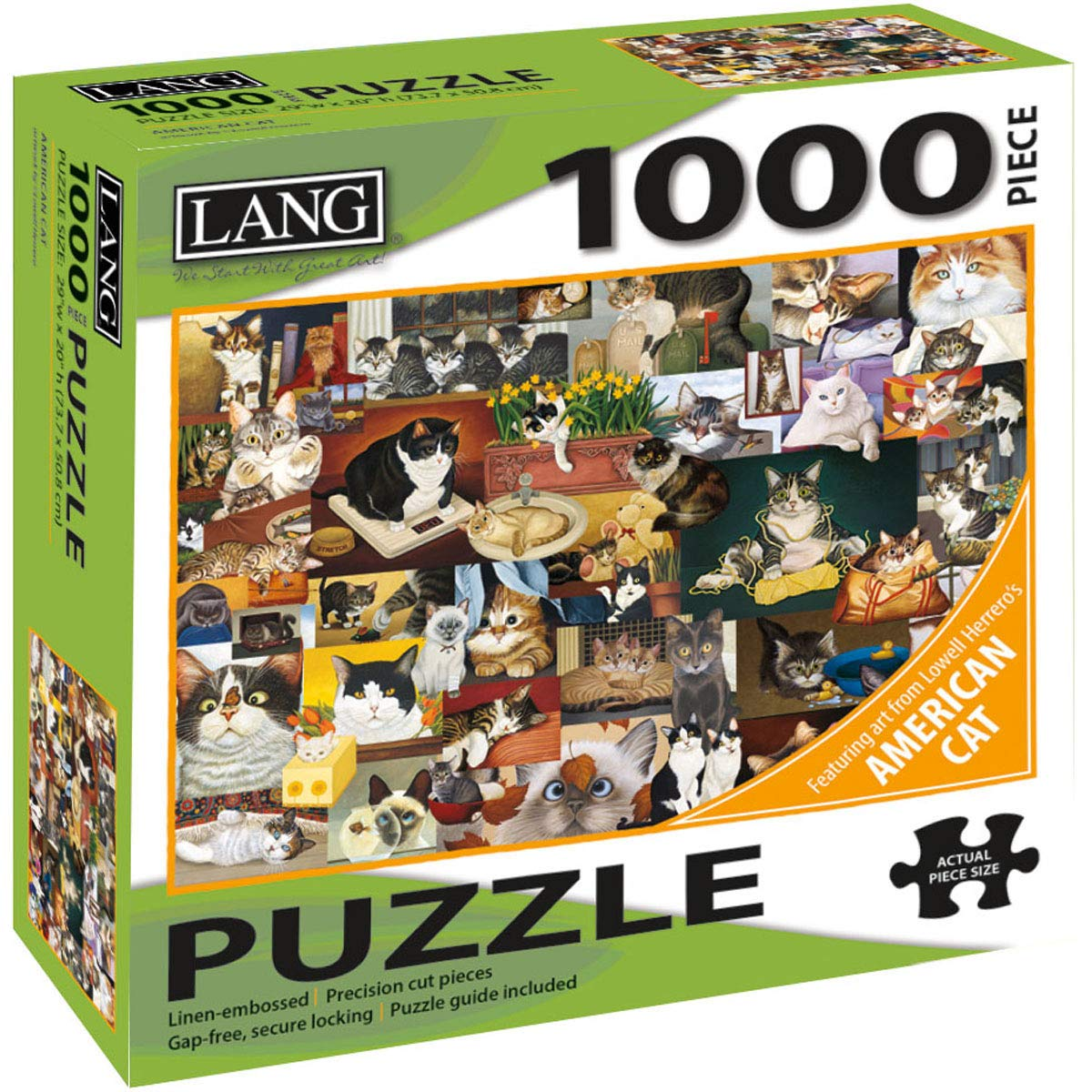 American Cat NOTIB 5038025 LANG Jigsaw Puzzle 1000 Pieces
