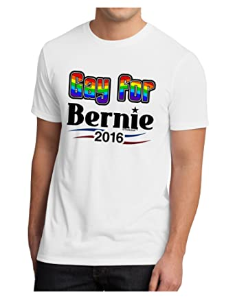 31af57fb Amazon.com: TooLoud Gay for Bernie Men's Sublimate Tee - Large White:  Clothing