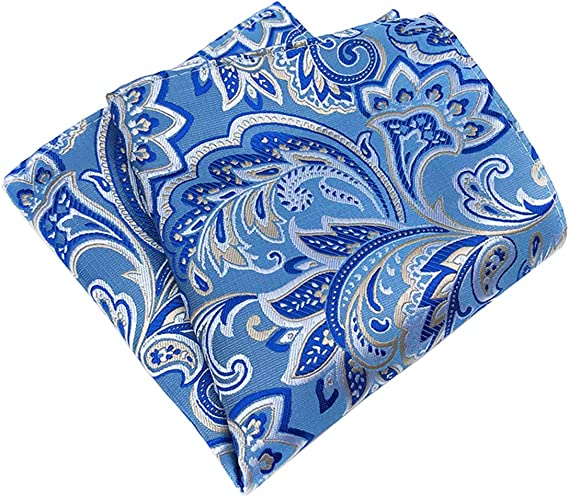 Blue /& Yellow Paisley Pocket Square
