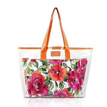 26905487a80e Basico Women's Cosmetic Bag Set,tote Bag SetVary Size& Styles (2 PC Tote  Bag Set-Orange)