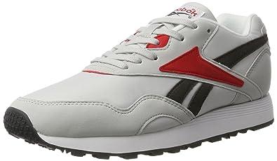 Reebok Herren Rapide Mc90 Sneaker  41 EUGrau (Lgh Solid Grey/Coal/Primal Red/White/Black)