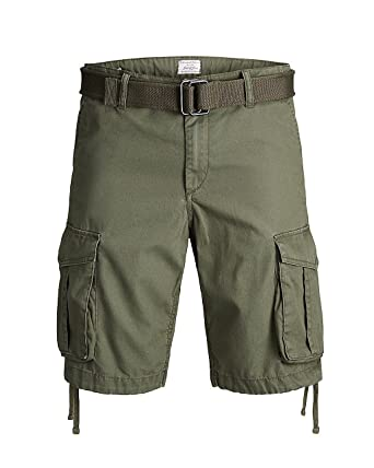 55dc5b885de3d Jack jones Man Bermuda Anakin Cargo Shorts AKM 427 12132933 m Green at  Amazon Men's Clothing store: