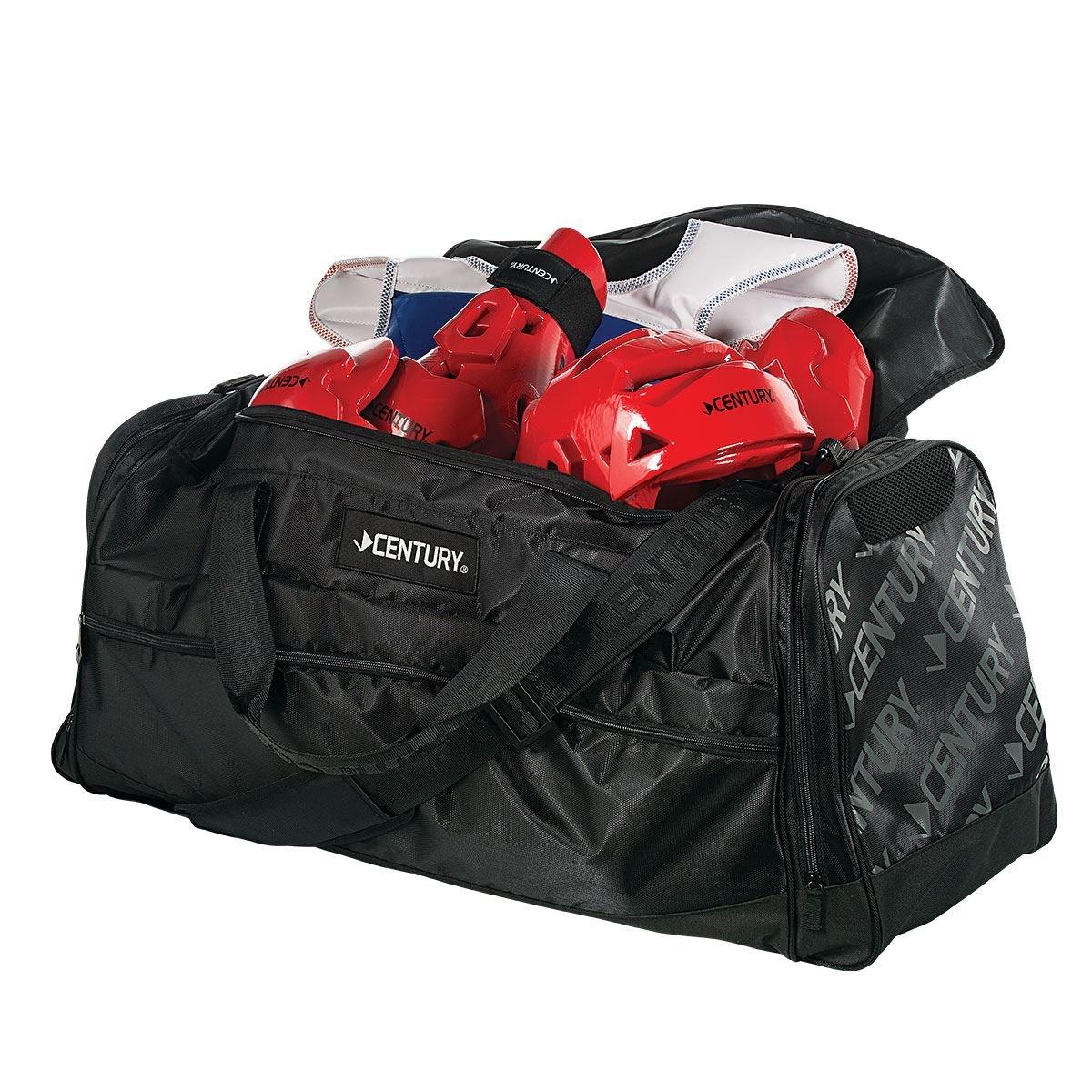 センチュリー2138-010215プレミアムスポーツバッグ - ブラック、大 B00X6D3BSG