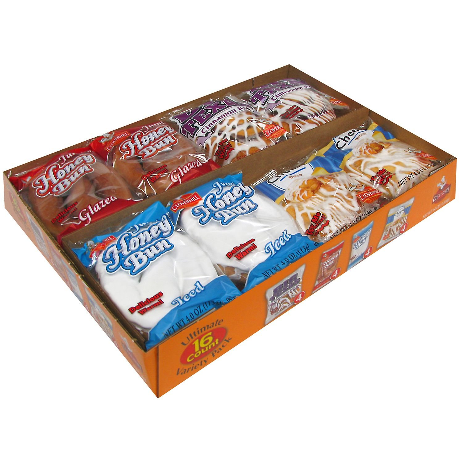 Cloverhill Bakery Ultimate Danish and Honey Bun Variety Pack