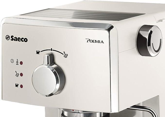 Saeco Poemia - Cafetera espresso manual, para café molido y monodosis ESE, 950 W, color blanco (importada): Amazon.es: Hogar
