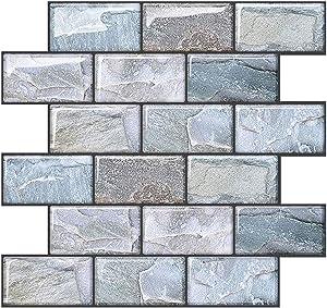 Joqixon 10 Sheets Peel and Stick Wall Tile for Kitchen Backsplash, 10