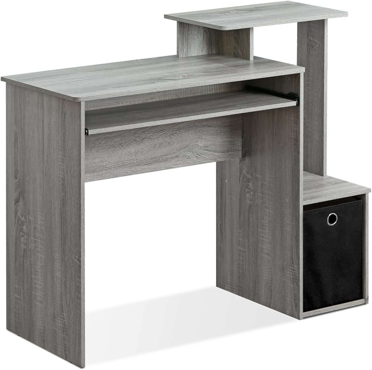 FURINNO Econ Multipurpose Home Office Computer Writing Desk, French Oak Grey: Furniture & Decor
