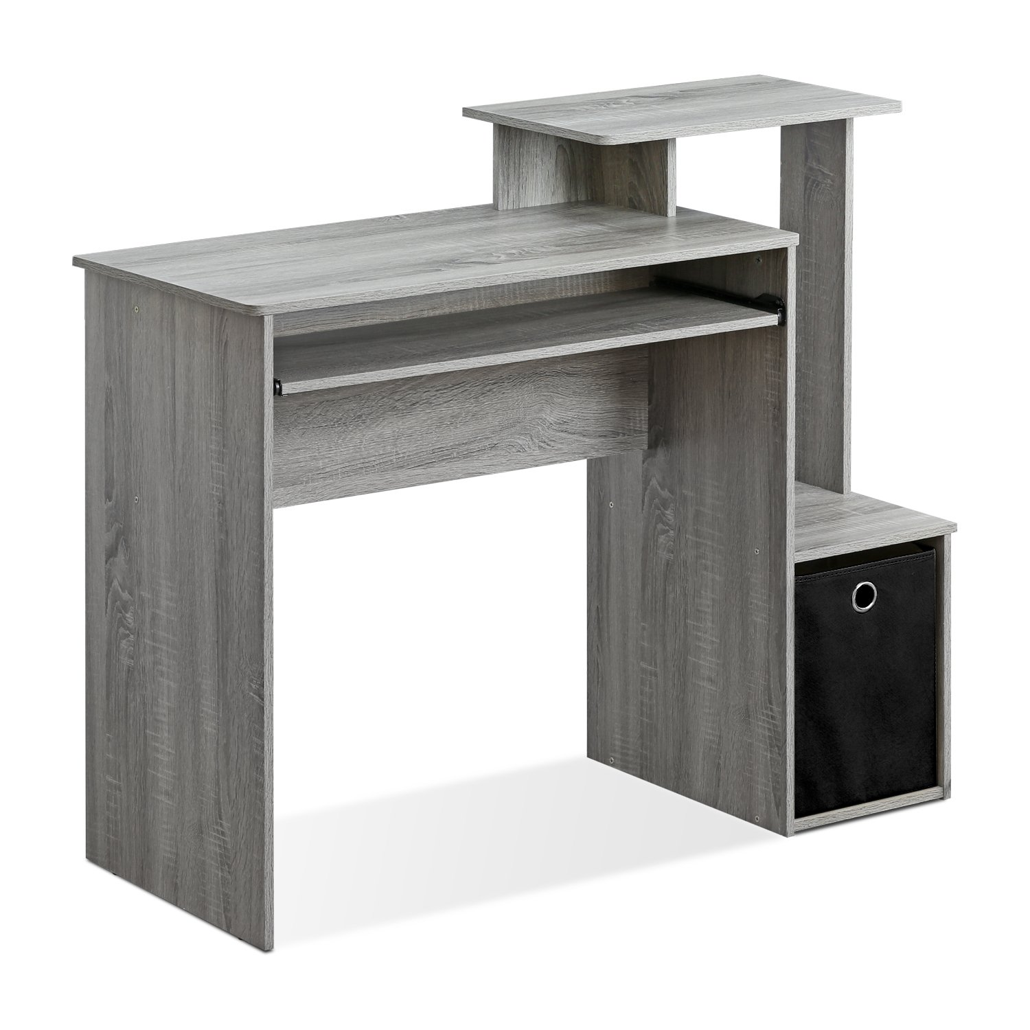 Furinno 12095GYW Econ Multipurpose Home Office Computer Writing Desk with Bin, French Oak Grey, French Oak Grey by Furinno