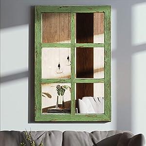 "Wall Mirror Wall Mounted Decorative Mirror Decorative Long Wall Hanging Mirror 32.3"" x1"" x22"""