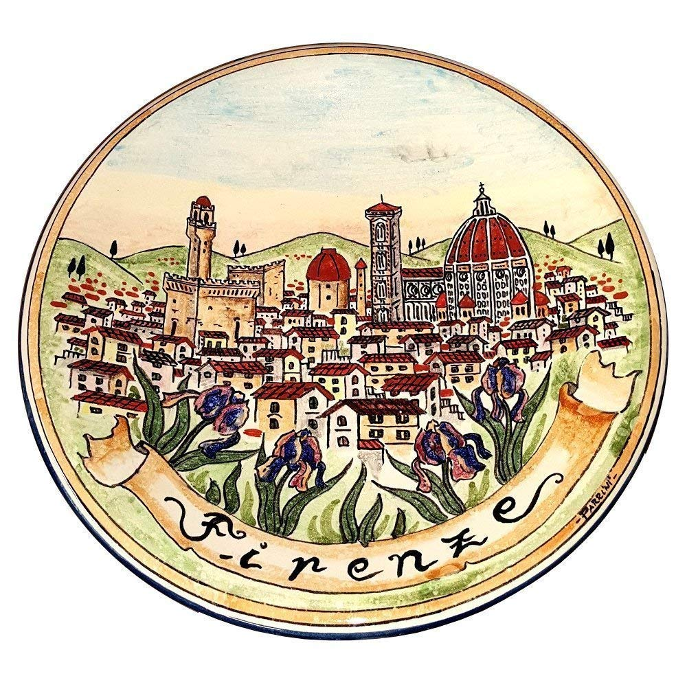 CERAMICHE D'ARTE PARRINI - Italian Ceramic Art Pottery Bowl Plate Decorated Duomo Firenze Florence Hand Painted Made in ITALY Tuscan