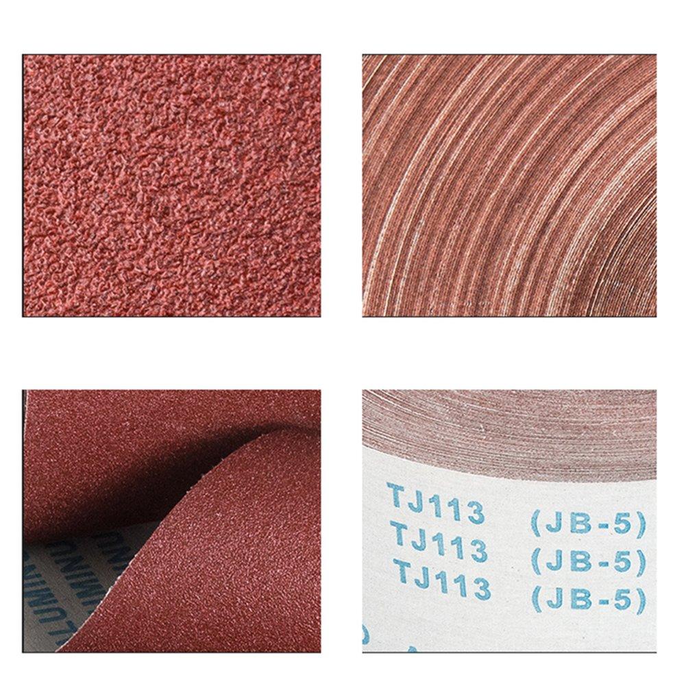 OMAS 10meter 800 Grit Emery Cloth Rollo de papel de lija de pulido 4 de ancho para pulido Herramientas de pulido Metalmec/ánica Dremel 95 mm