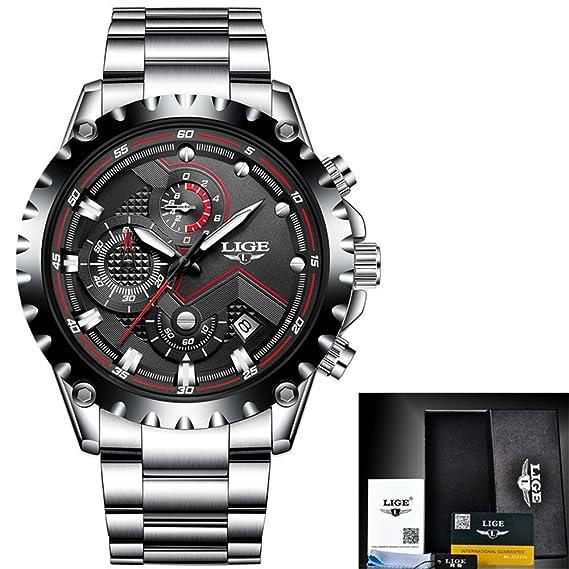Reloj lujo los hombres Marca moda Relojes cuarzo Reloj