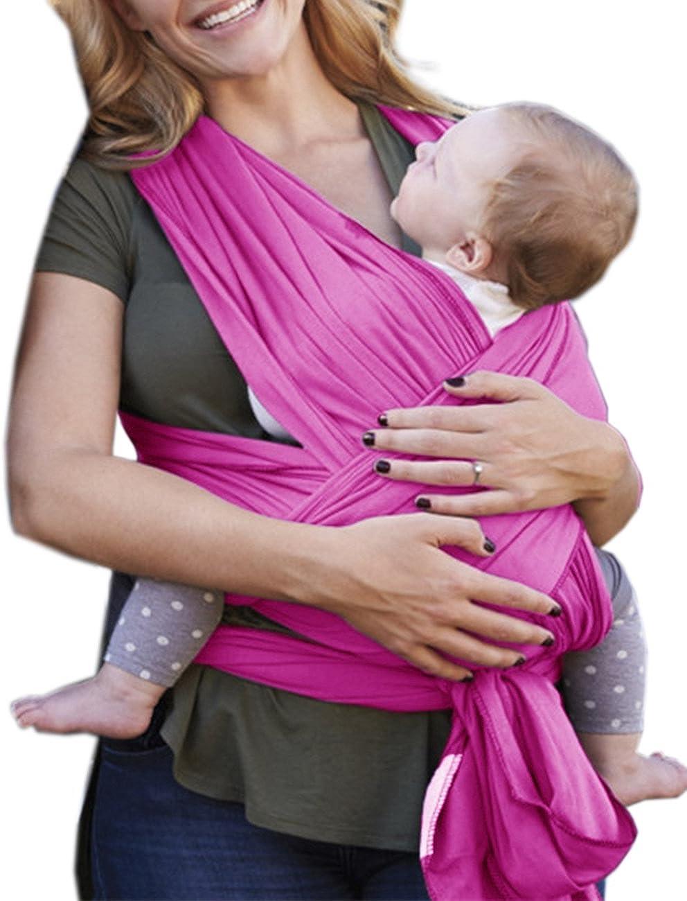 HAHAEMMA Babytragetuch Babytragen Elastisch Baby Wrap Sling f/ür Neugeborene und Kleinkinder inkl Baby Wrap Carrier Anleitung