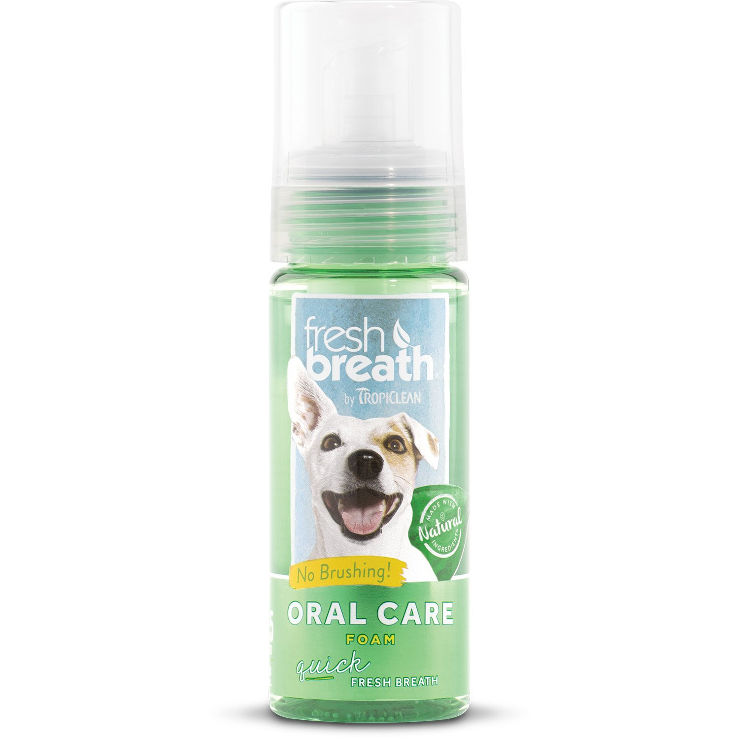 TropiClean Fresh Breath Fresh Mint Foam Dental Wash & Freshener for Pets
