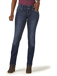 Riders by Lee Indigo Women's Waist Smoother Straight Leg Jean
