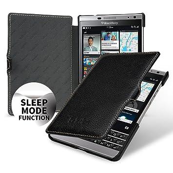 116ce878c26 keledes Funda Blackberry Passport Silver Edition, Tipo Libro Funda de Cuero  Genuino Carcasa para Blackberry Passport Silver Edition | Smart Cover  On/Off ...