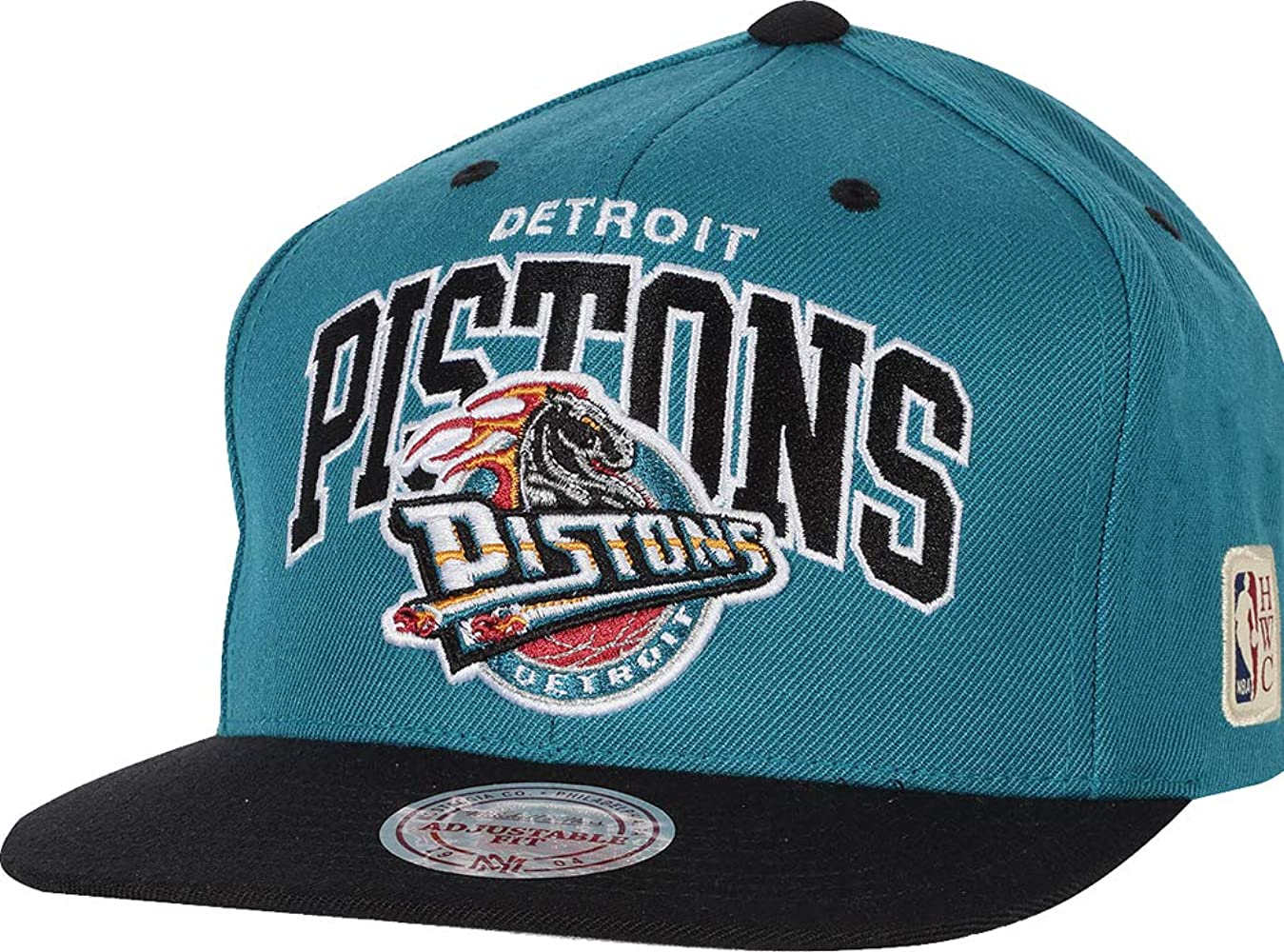 Mitchell & Ness Gorras Detroit Pistons Team Arch Teal/Black ...