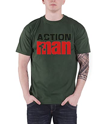Hasbro Action Man T Shirt Mens Vintage Logo Official Green