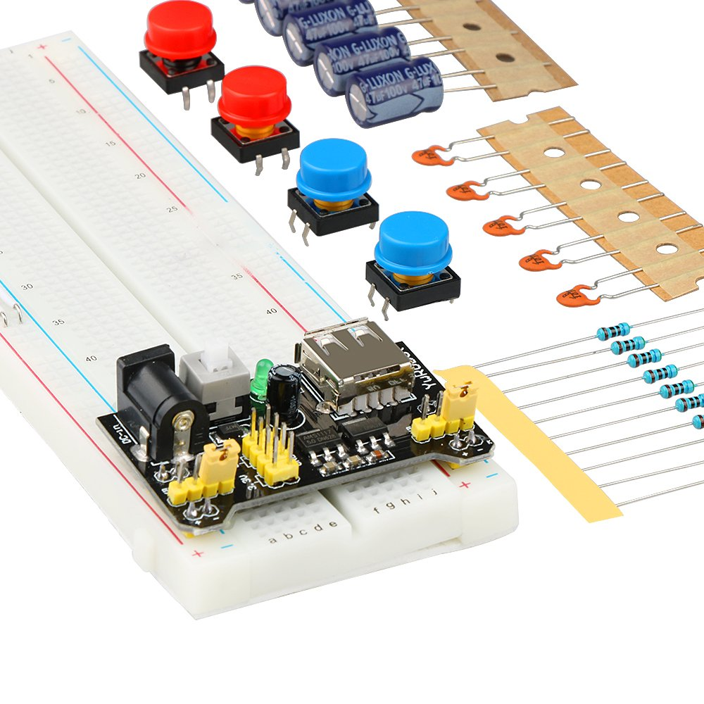 Emakefun Electronics Component Fun Kit With Power Supply Choosing A Breadboard For Kids Modulejumper Wirepotentiometerbreadboardresistorcapacitorled Arduino Uno