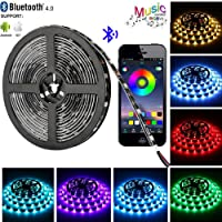 Tira LED de Bluetooth, WINSUNY Luces de Tira LED Controlada por Smartphone APP, Sync to Music, 5050 RGB 6.5 ft / 2...
