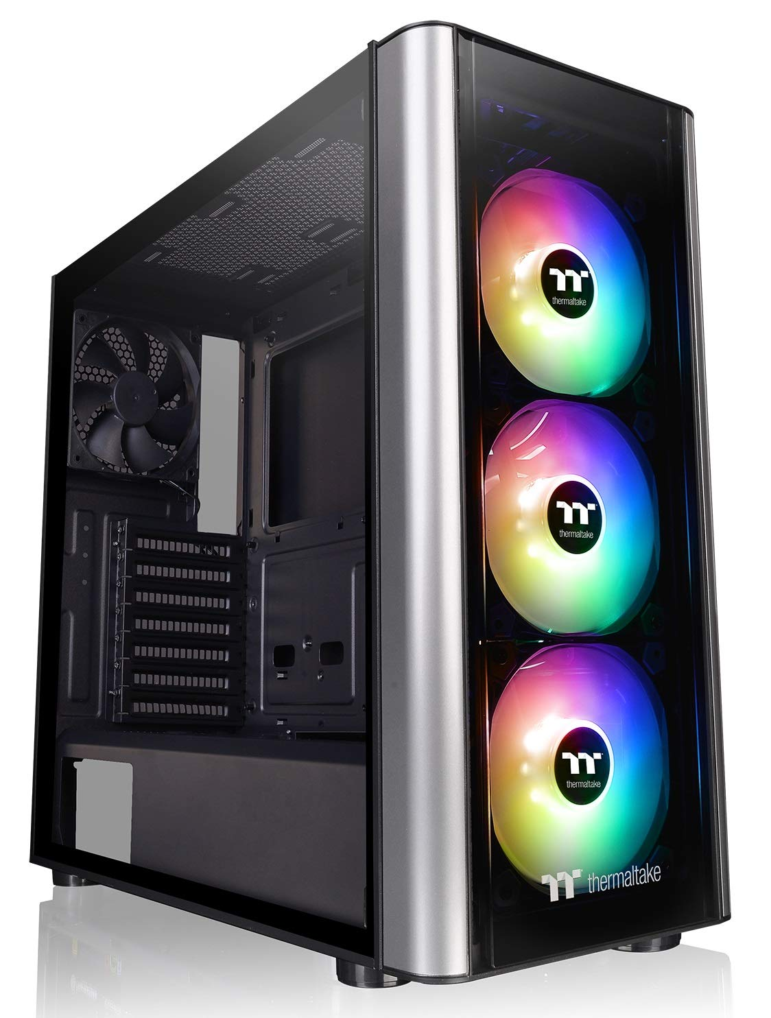 Thermaltake Level 20 MT Motherboard Sync ARGB ATX Mid Tower Gaming Computer Case with 3 120mm ARGB 5V Motherboard Sync RGB Fans +1 120mm Rear Fan Pre-Installed CA-1M7-00M1WN-00, Black by Thermaltake