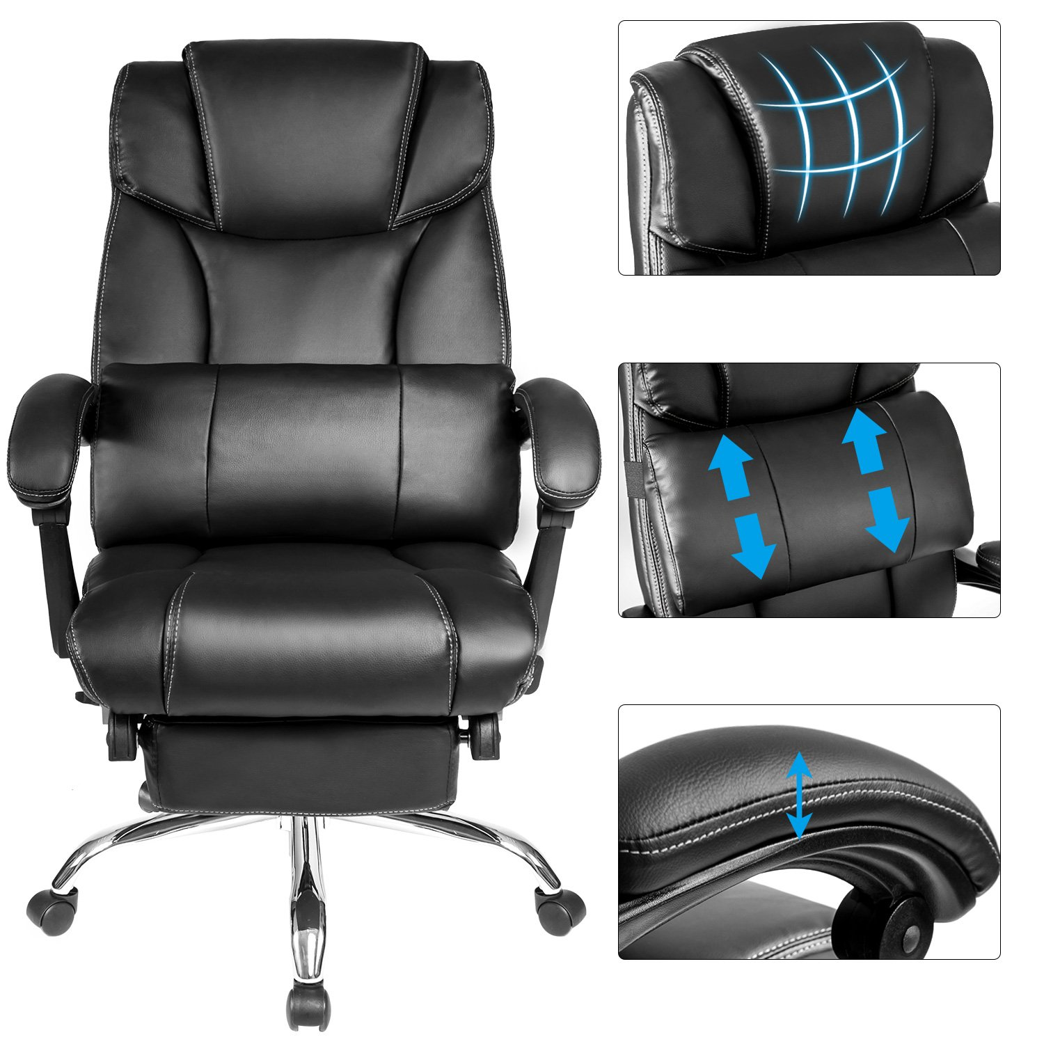 Amazon Merax Technical Leather Big Tall Executive Recliner