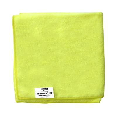 "Unger ME40J MicroWipe Ultralite Microfiber Cloth, 16"" Length x 16\"" Width, Yellow (Case of 10): Industrial & Scientific [5Bkhe0414527]"