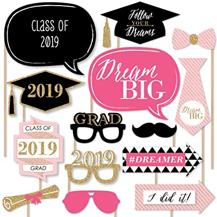 photo about Free Printable Graduation Photo Booth Props named Aspiration Huge - 2019 Commencement Picture Booth Props Package - 20 Rely