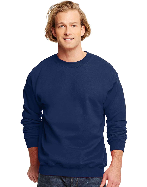 Hanes Mens Ultimate Cotton Crewneck Sweatshirt, Small, Navy F260NY